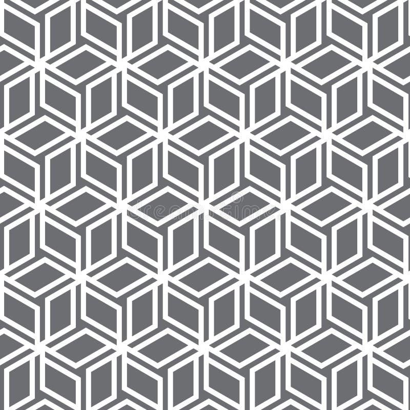 Configuration de vecteur fleur abstraite de repeatig sur la forme de cube illustration stock