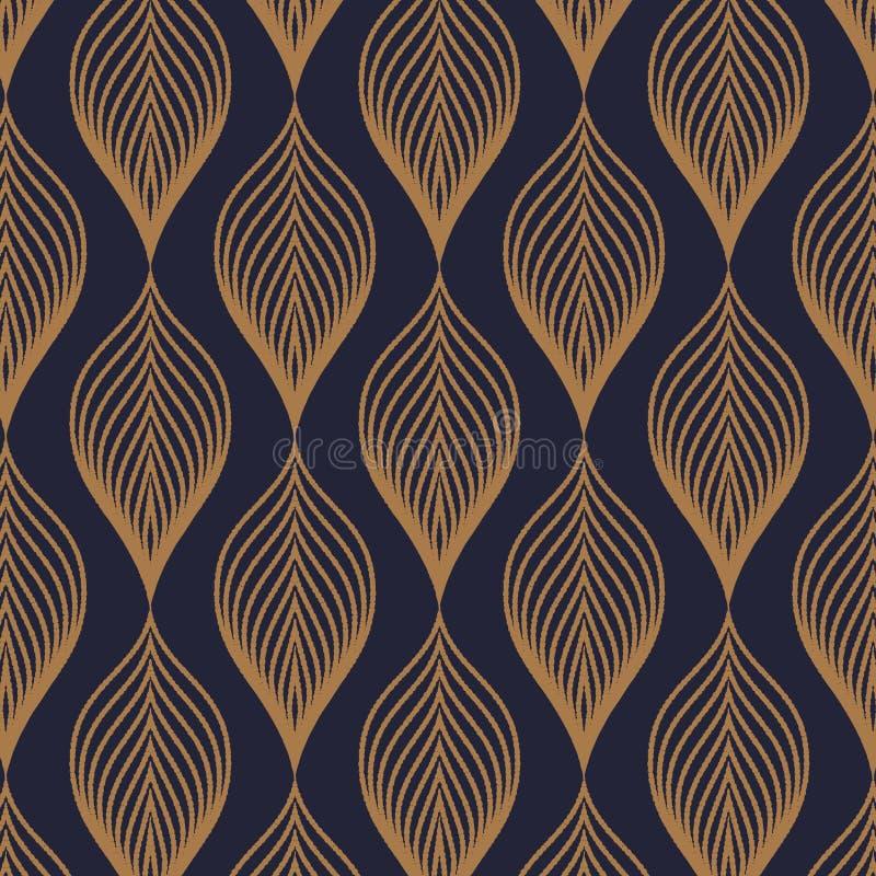 Configuration de vecteur Le fond élégant abstrait avec la texture de l'or abstrait part Guirlande stylisée de vacances illustration stock