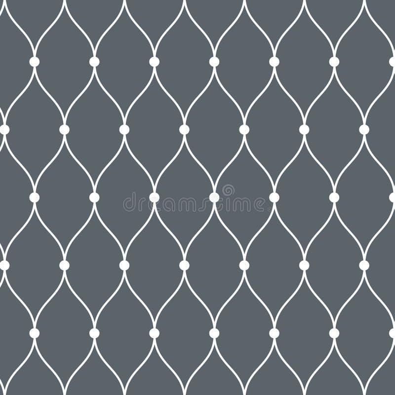 Configuration de vecteur Texture moderne Répétition du fond abstrait Linéaire onduleux simple Contexte minimaliste graphique illustration libre de droits