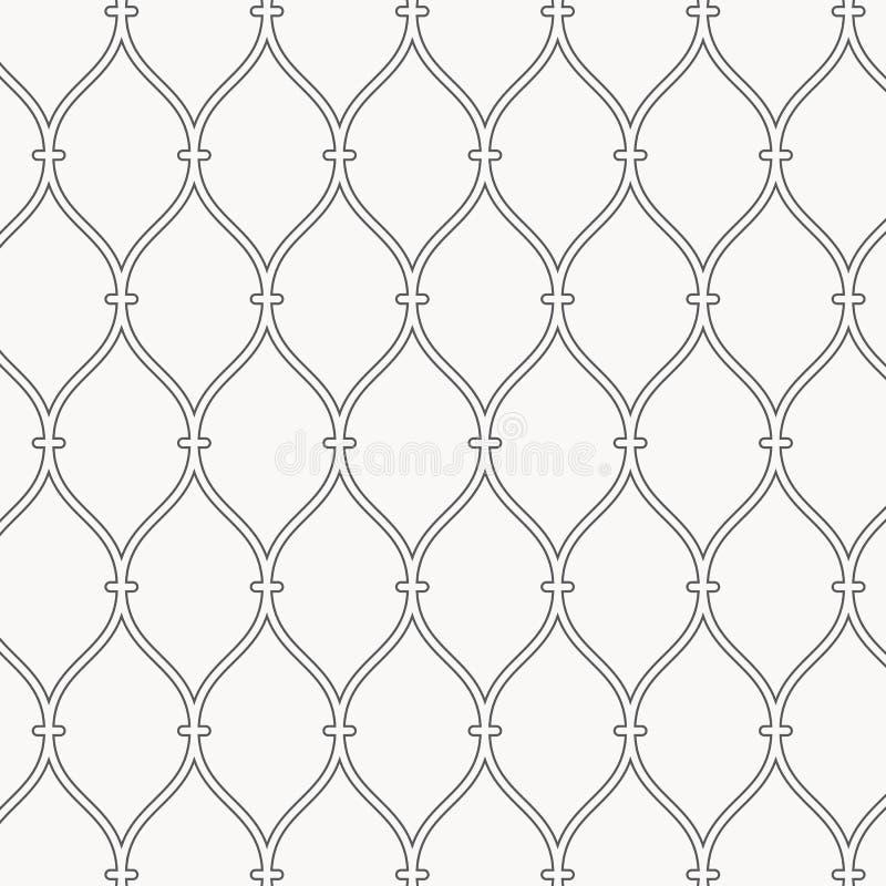 Configuration de vecteur Texture pointillée moderne Répétition du fond abstrait Grille linéaire onduleuse simple Contexte minimal illustration stock