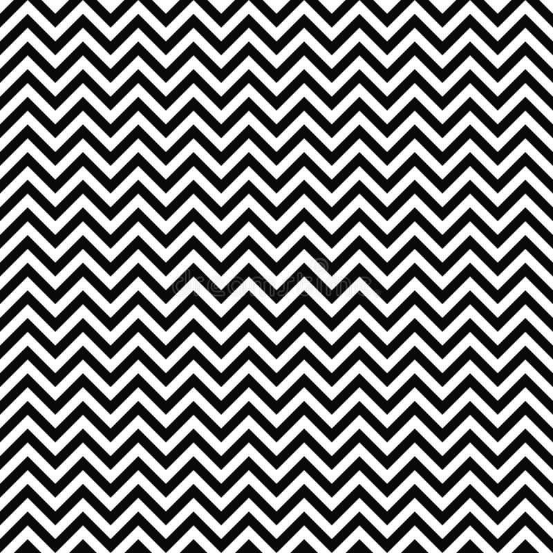 Configuration de zigzag sans joint de vecteur Texture de Chevron Fond noir et blanc Les rayures monochromes de zigzag conçoivent illustration de vecteur