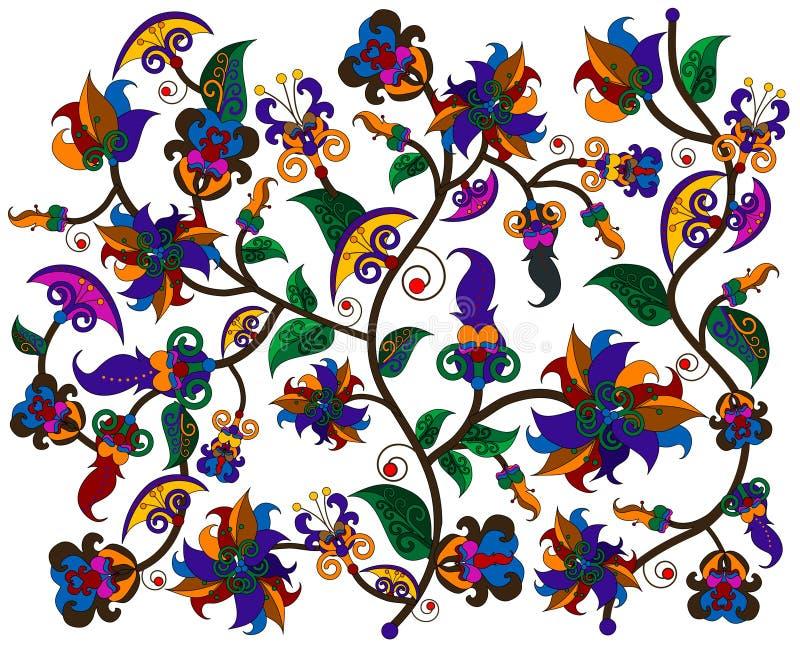Configuration des fleurs illustration de vecteur