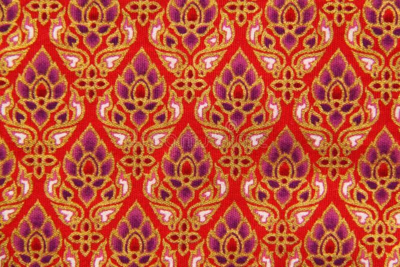 Configuration des tissus d'indigène de la Thaïlande photo stock