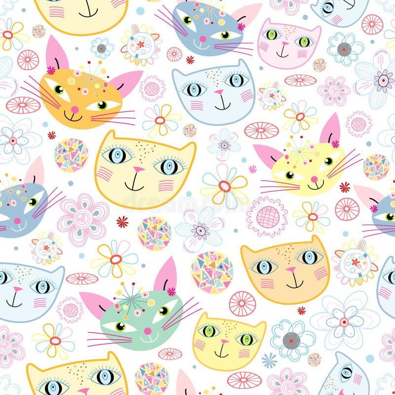 Configuration des verticales des chats illustration libre de droits