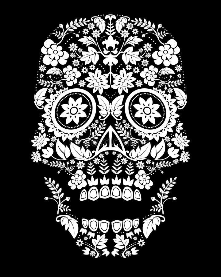 Configuration effrayante de crâne image libre de droits