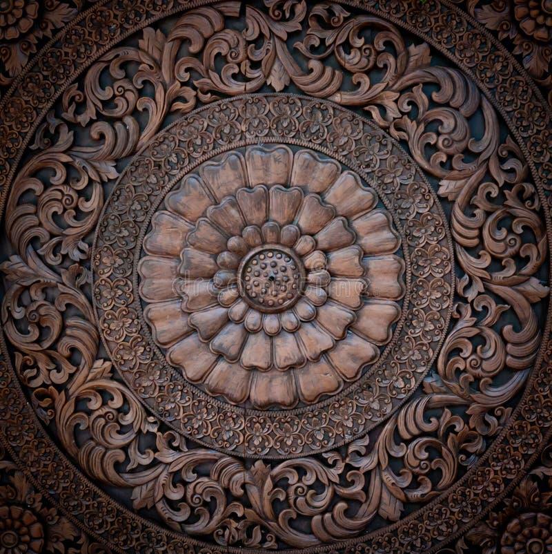 Configuration en bois de spéléologie de type thaï. photo stock