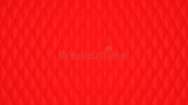 Configuration en cuir boutonnée rouge de luxe illustration libre de droits