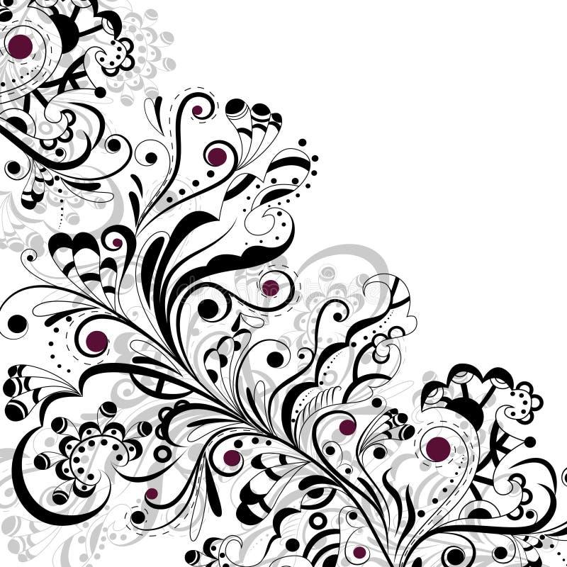 Configuration en noir et blanc illustration libre de droits