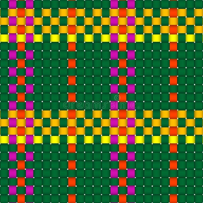 Configuration entrecroisée tissée de plaid illustration de vecteur