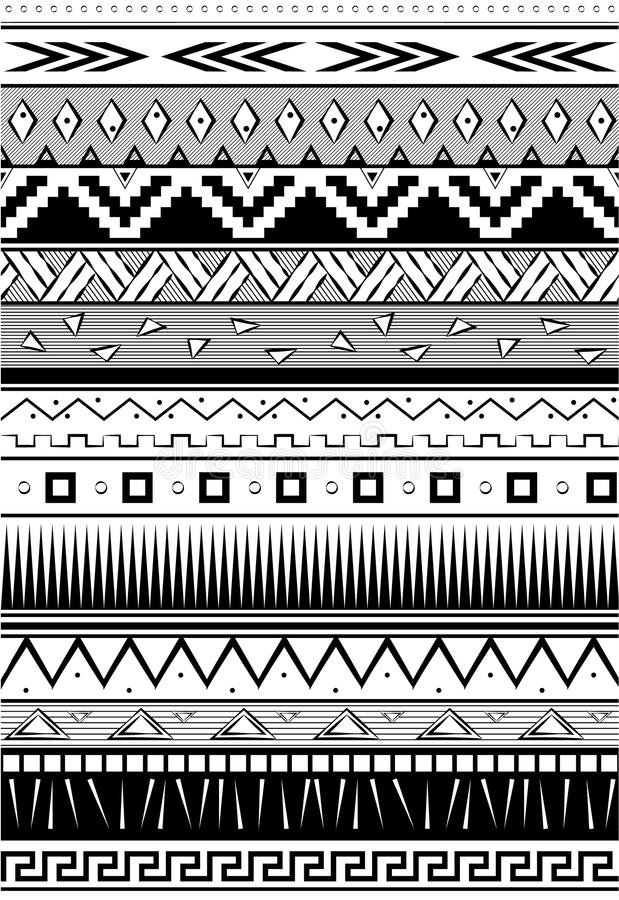 Configuration ethnique Fond tribal sans couture Impression géométrique Rebecca 36 Vecteur Illustration illustration libre de droits