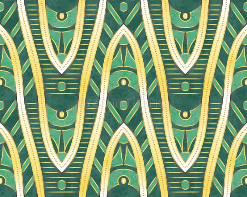 Configuration ethnique Formes d'or Conception ethnique Fond de vecteur illustration stock