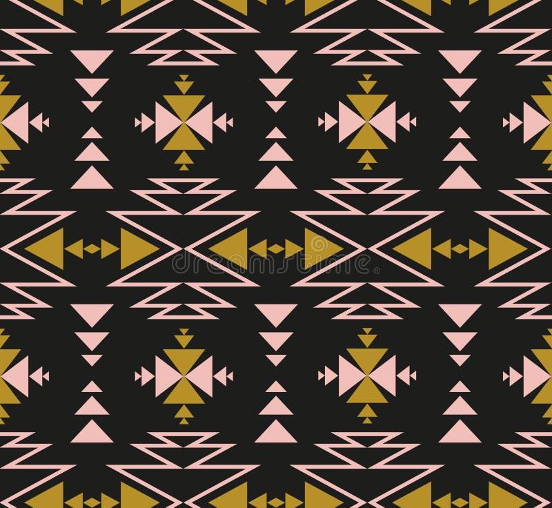 Configuration ethnique sans joint de vecteur Conception tribale pour le papier peint, le papier d'enveloppe ou le tissu illustration libre de droits