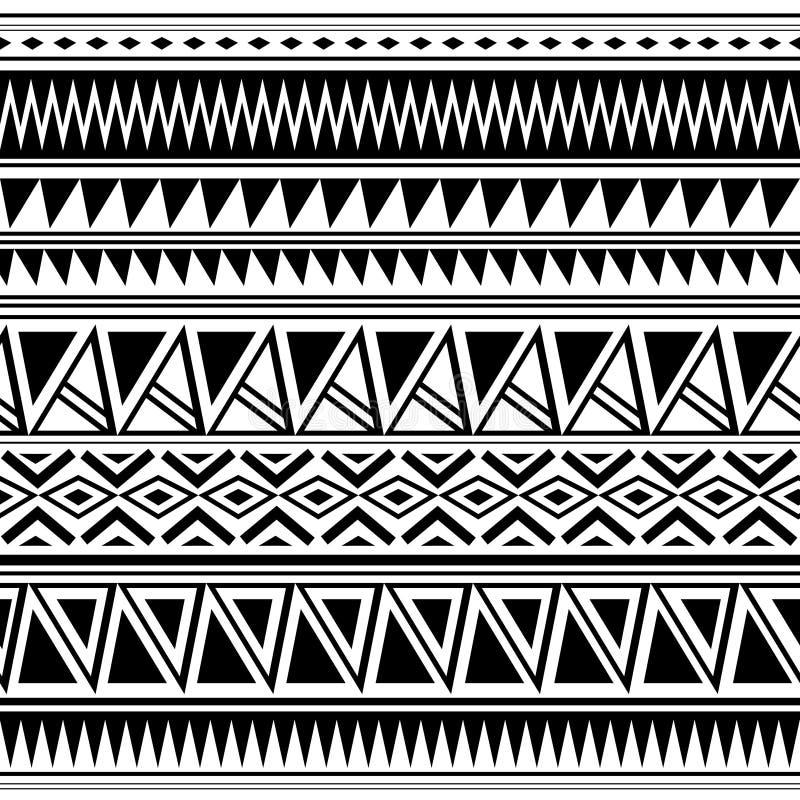 Configuration ethnique sans joint handmade Rayures horizontales Copie noire et blanche pour vos textiles Style africain d'illustr illustration de vecteur