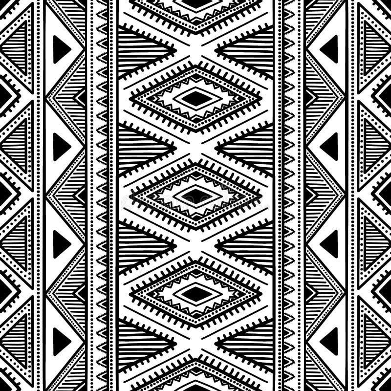 Configuration ethnique sans joint Illustration noire et blanche de vecteur illustration de vecteur