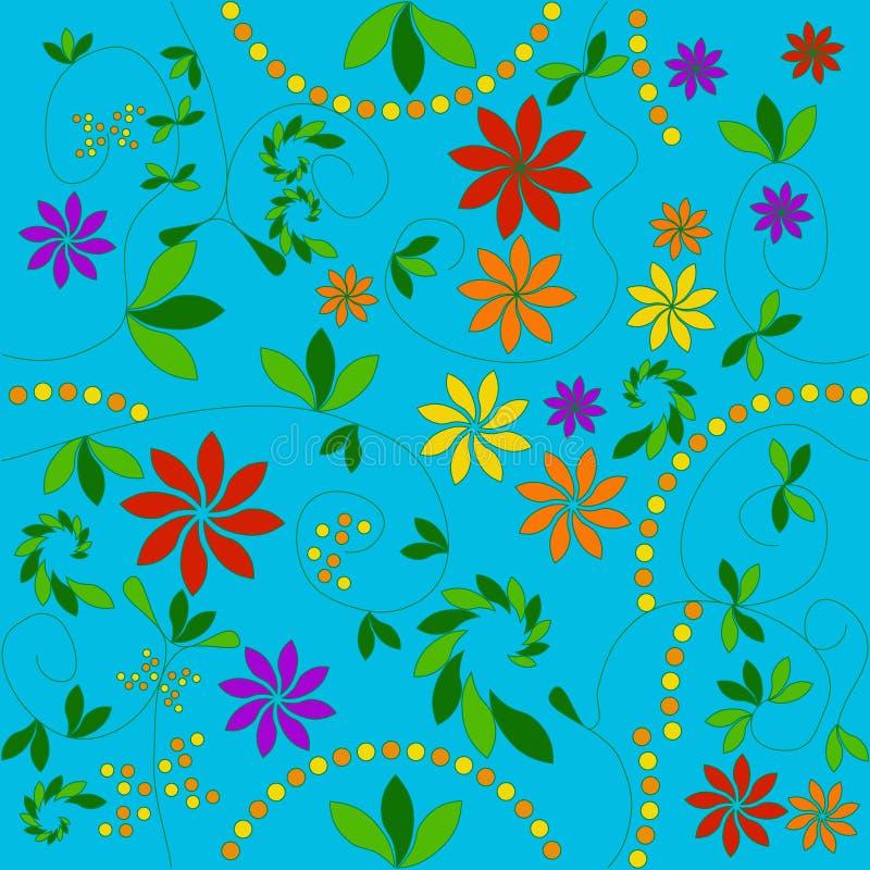 Configuration florale illustration de vecteur