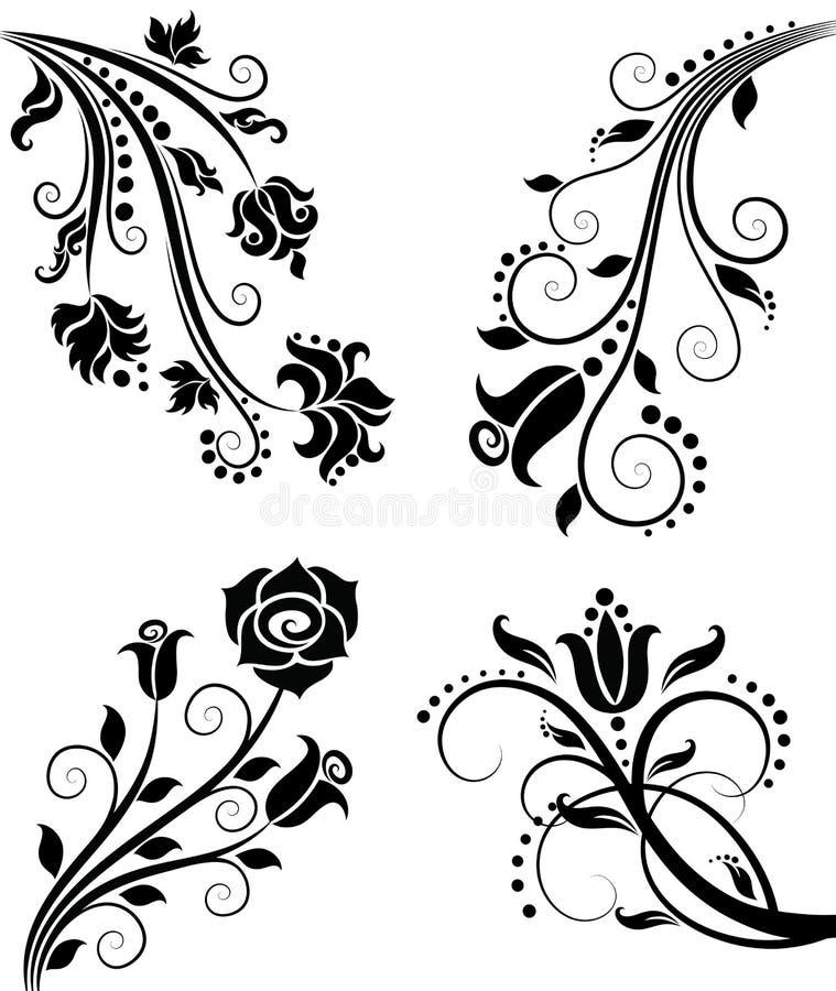 Configuration florale. illustration de vecteur