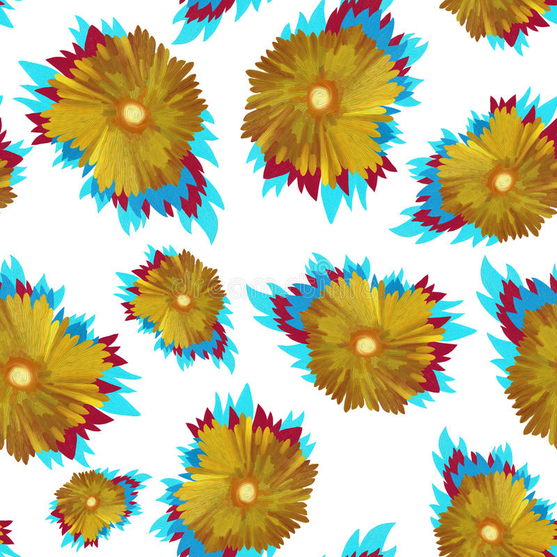 Download Configuration florale illustration stock. Illustration du tournesol - 45371243