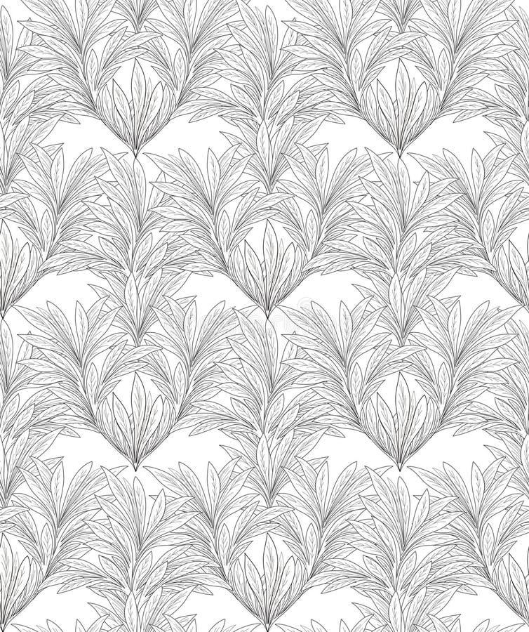 Configuration florale abstraite Backgound sans couture de feuille illustration de vecteur