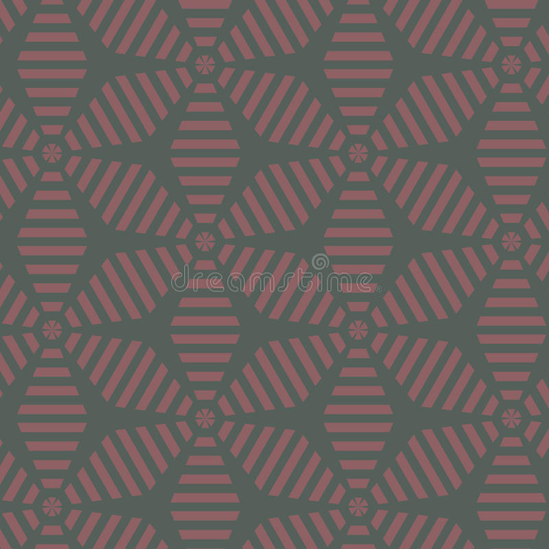 Configuration florale abstraite Modèle géométrique par l'ornement de feuille de rayures Graphique moderne illustration libre de droits