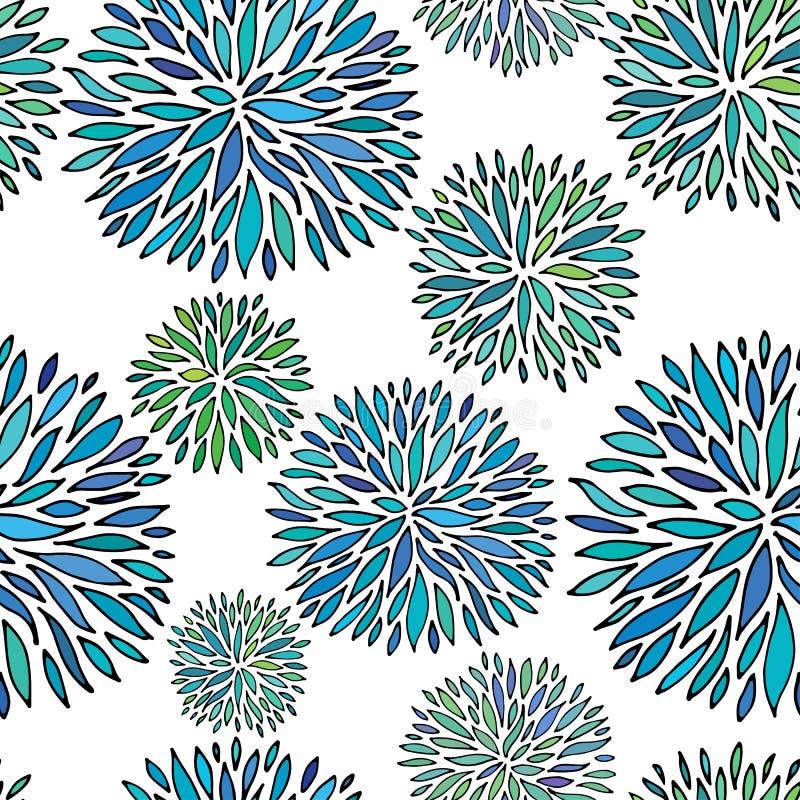 Configuration florale abstraite sans joint Ornement de vecteur de dessin de main illustration libre de droits