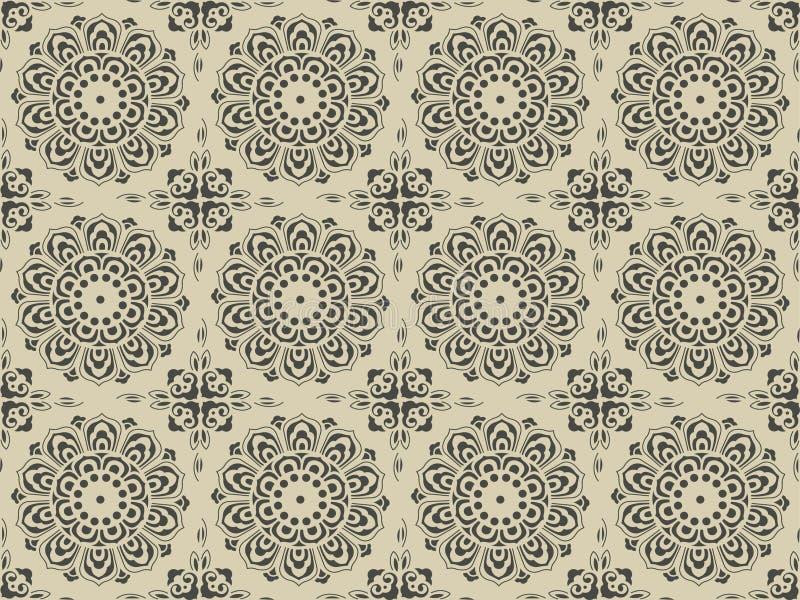 Configuration florale antique complexe illustration libre de droits