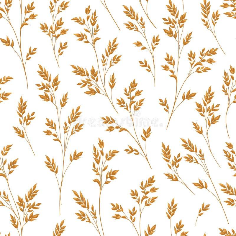 Configuration florale avec des lames Fond sans joint ornemental Natu illustration stock
