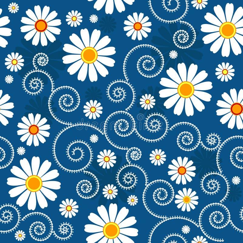 Configuration florale bleu-foncé illustration stock