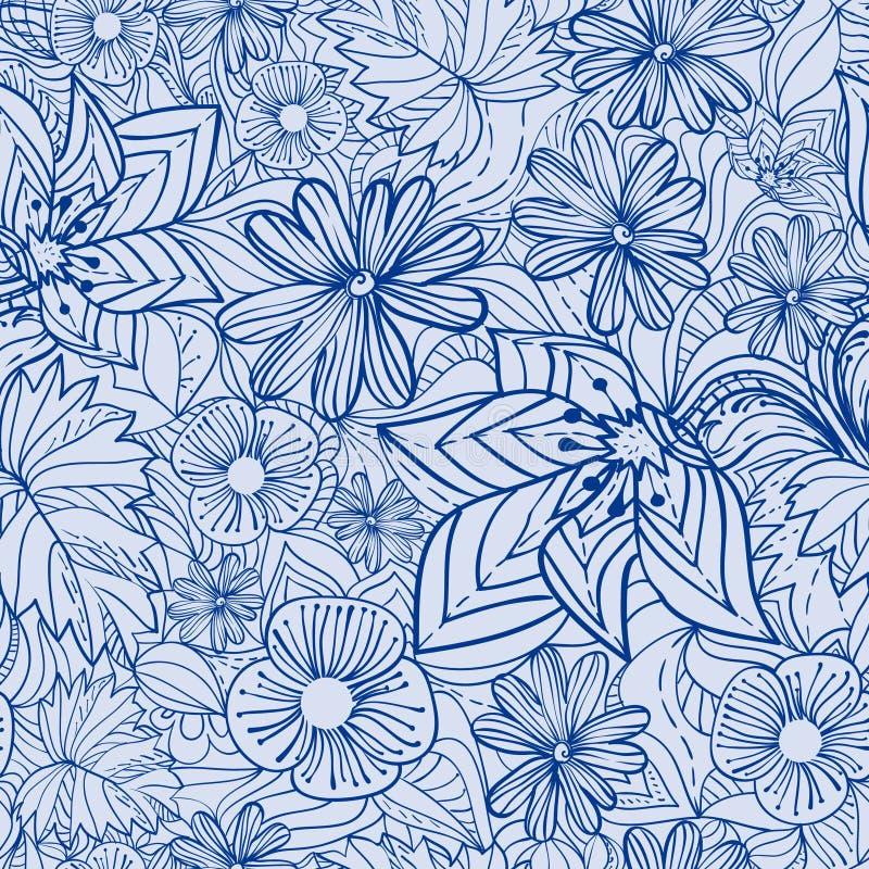 Configuration florale bleue illustration libre de droits