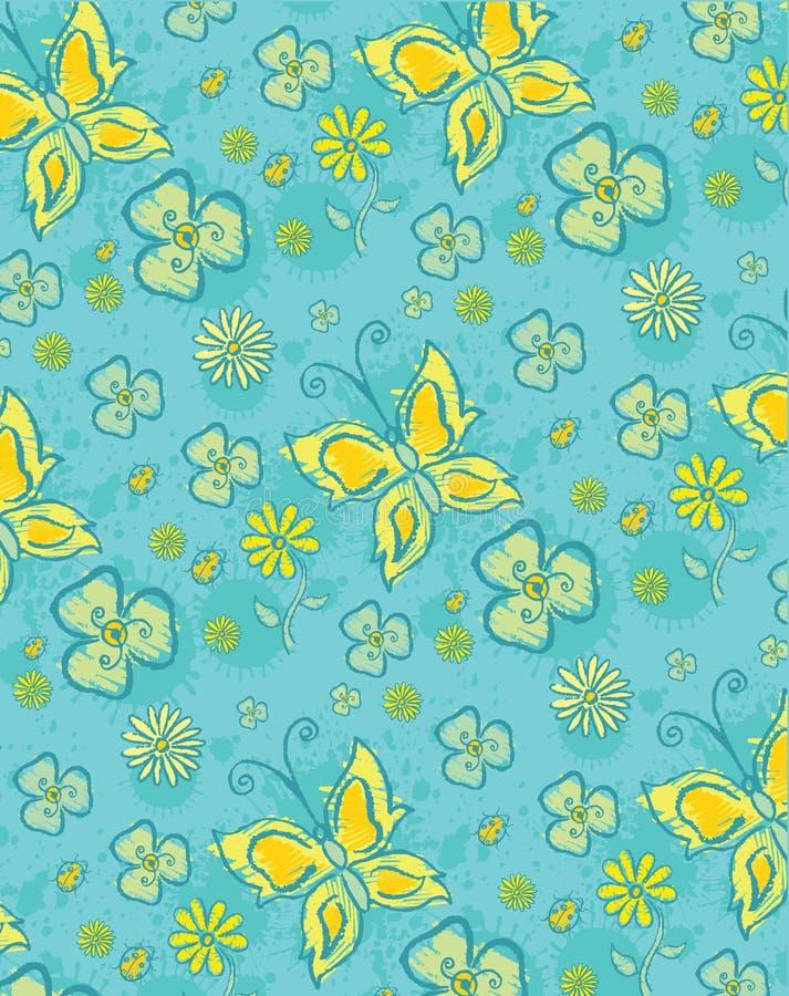 Configuration florale bleue illustration stock