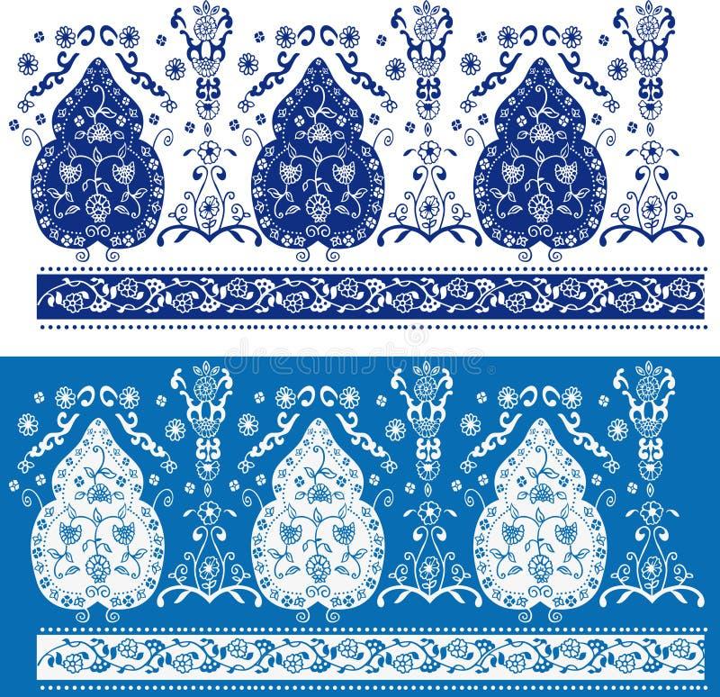Configuration florale bleue et blanche illustration de vecteur