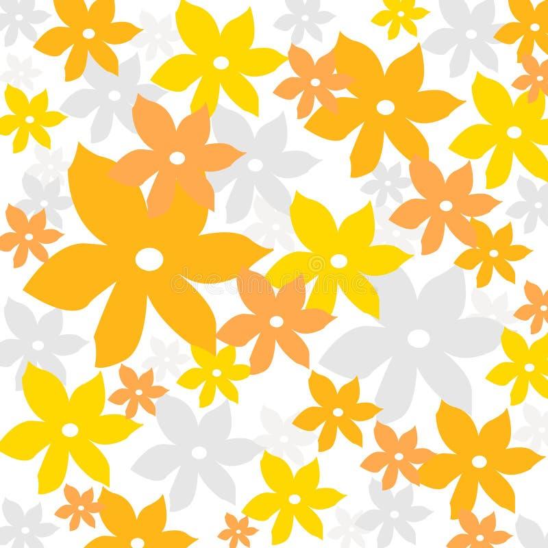 Configuration florale d'été illustration libre de droits