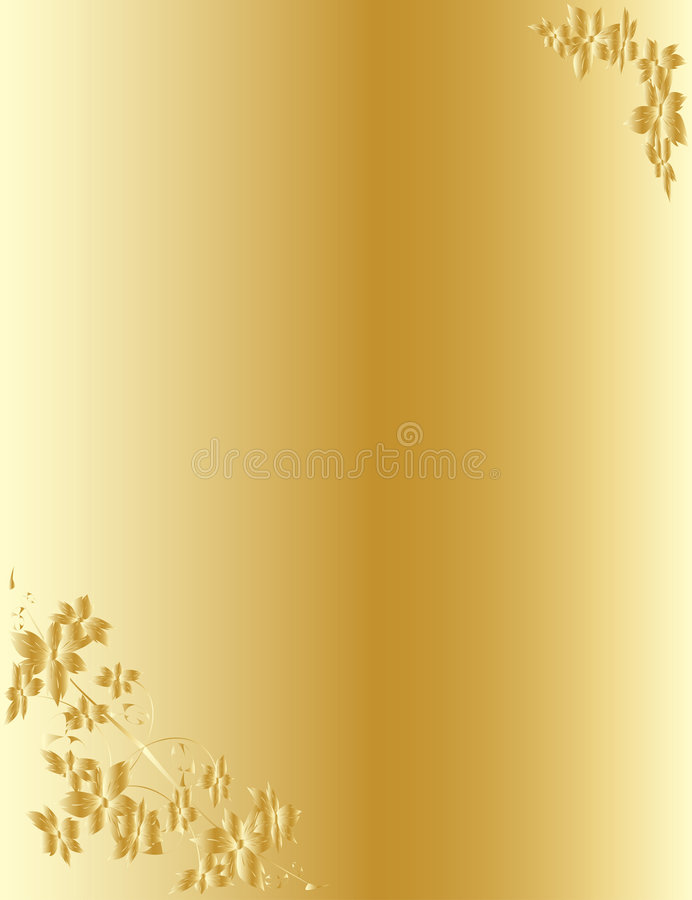 Configuration florale d'or dans le type antique illustration libre de droits