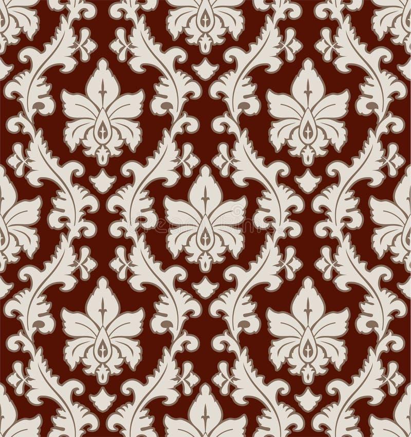 Configuration florale de damassé illustration libre de droits