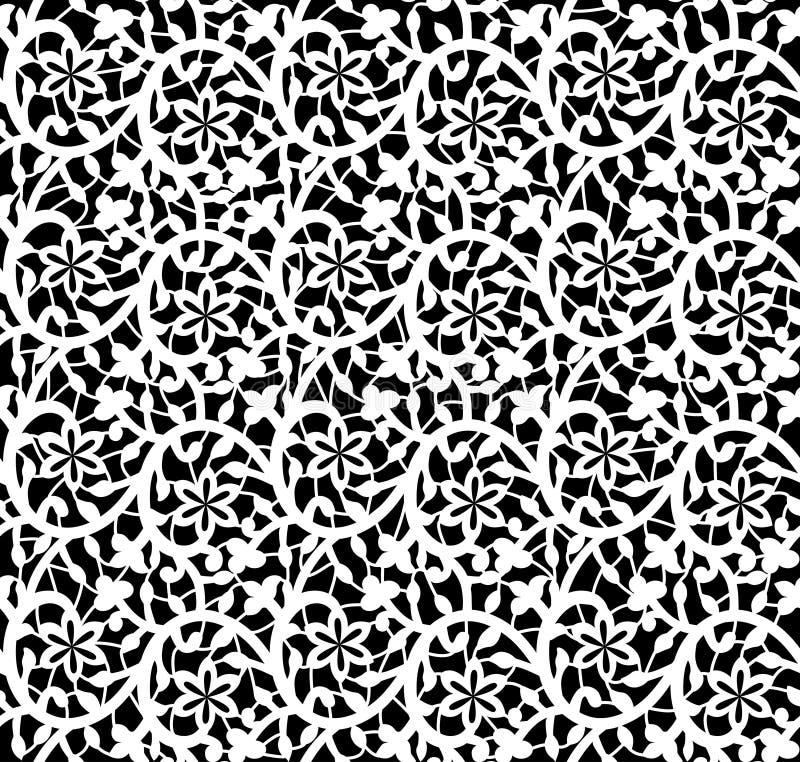 Configuration florale de dentelle sans joint blanche illustration stock