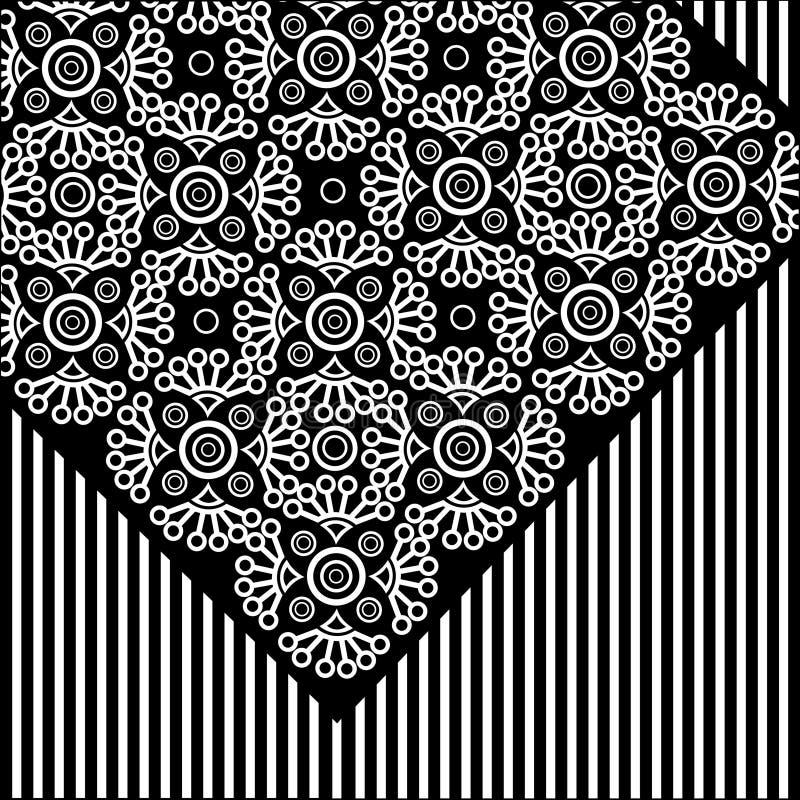 Configuration florale de lacet de vecteur illustration de vecteur