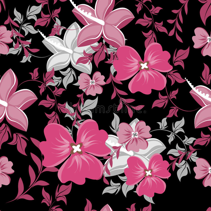 Configuration florale de vecteur sans joint Pour l'entrave sans couture de fabrication facile de modèle juste tout le groupe dans illustration stock