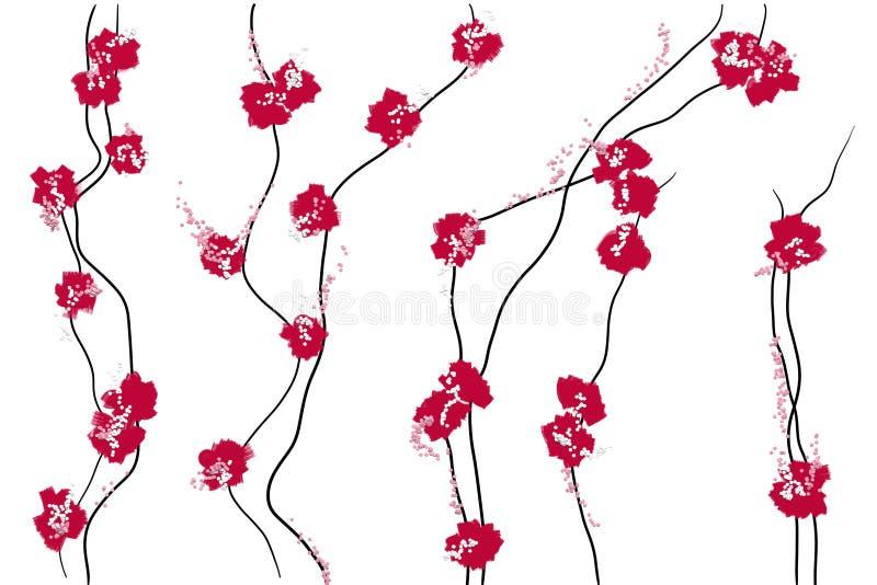 Configuration florale japonaise illustration de vecteur