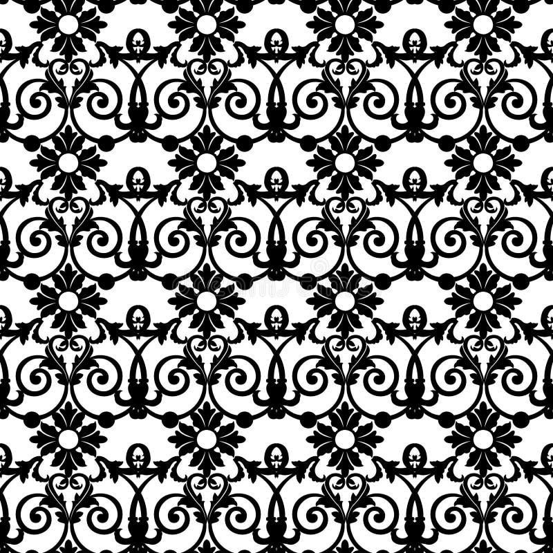 Configuration florale noire illustration libre de droits