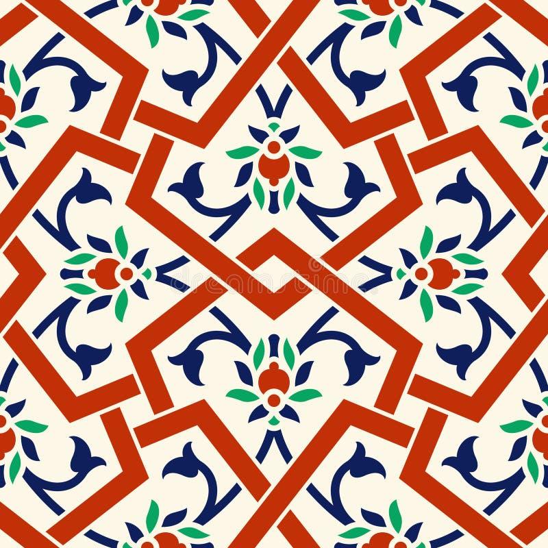 Configuration florale pour votre conception Ornement sans couture d'ï de ¿ de tabouret turc traditionnel de ½ Iznik illustration stock