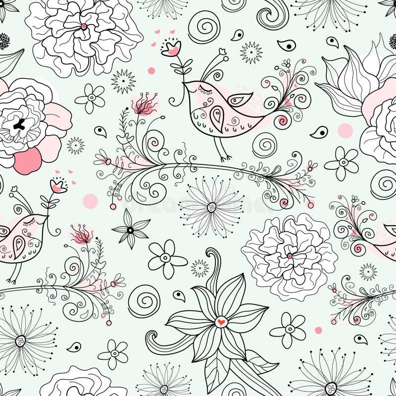 Configuration florale romantique illustration libre de droits
