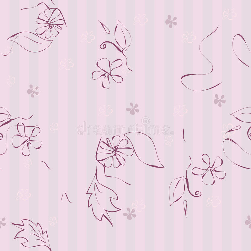 Configuration florale rose sans joint illustration libre de droits