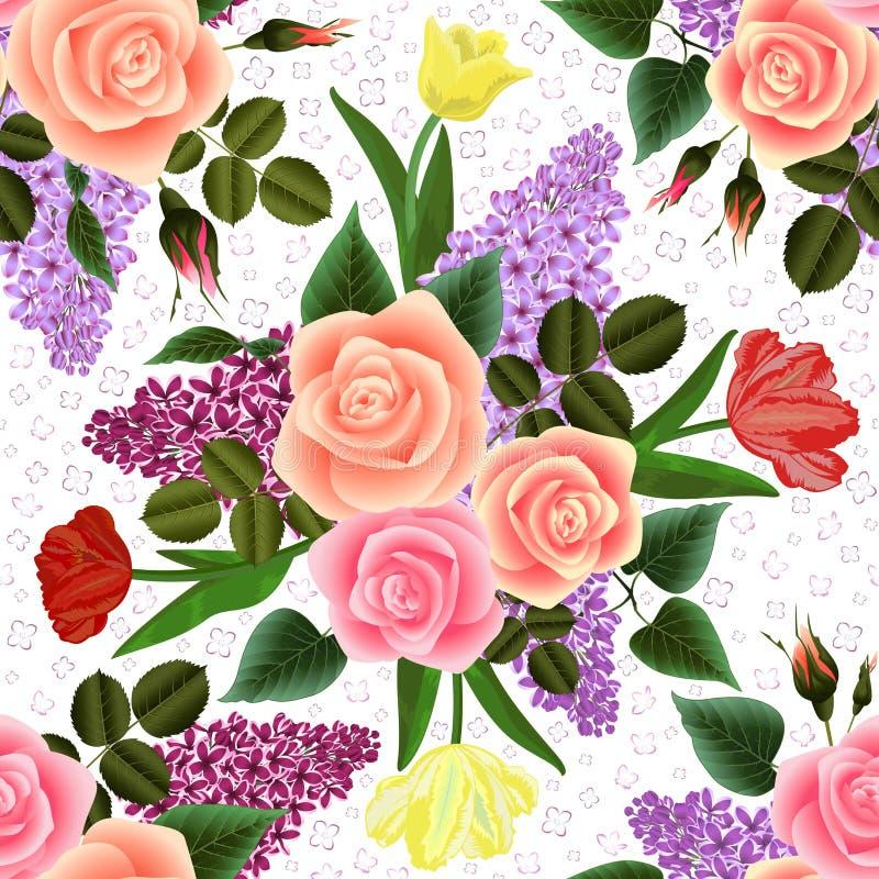 Download Configuration Florale Sans Joint Illustration de Vecteur - Illustration du pétale, bouquet: 76086017