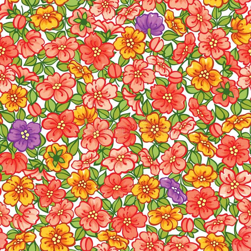 Configuration florale sans joint illustration de vecteur