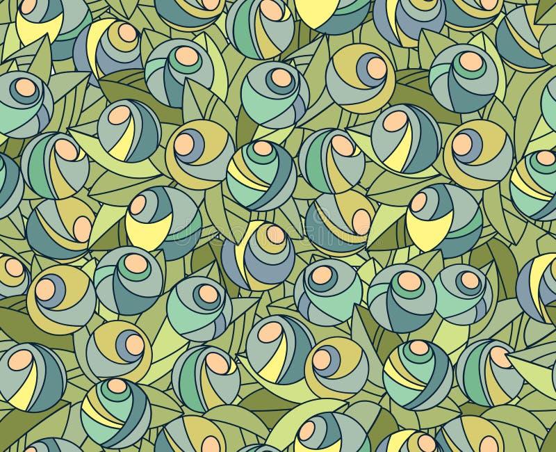 Configuration florale sans joint abstraite illustration de vecteur