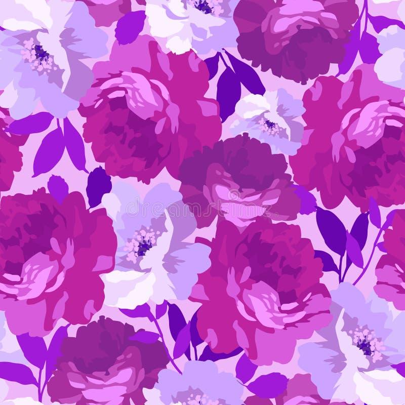Configuration florale sans joint avec des roses illustration de vecteur