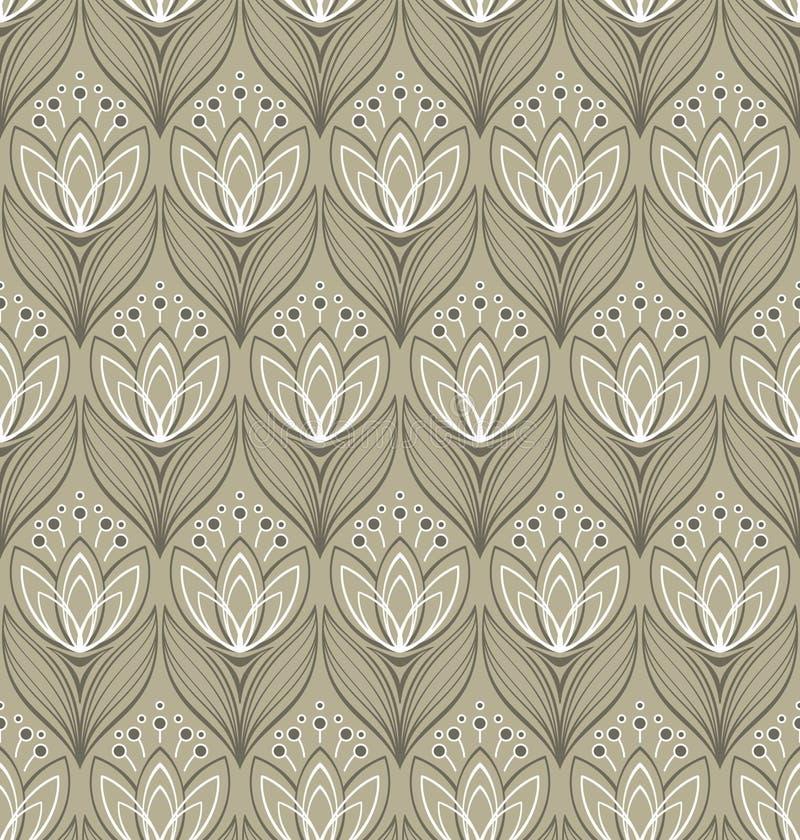 Configuration florale sans joint avec des tulipes illustration de vecteur