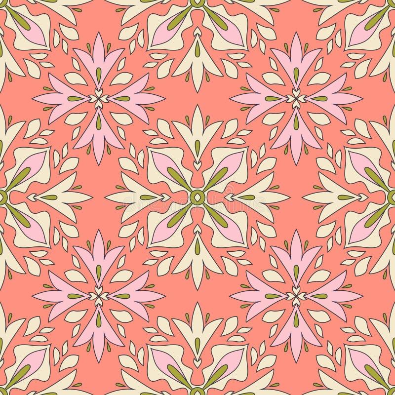 Configuration florale sans joint de cru illustration libre de droits