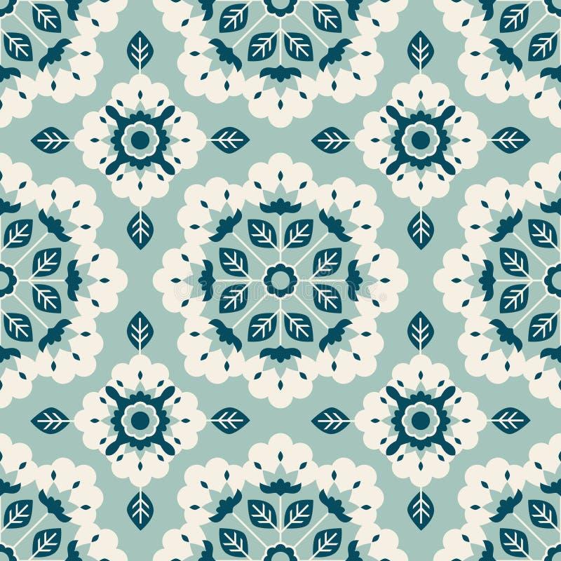 Configuration florale sans joint de cru illustration stock