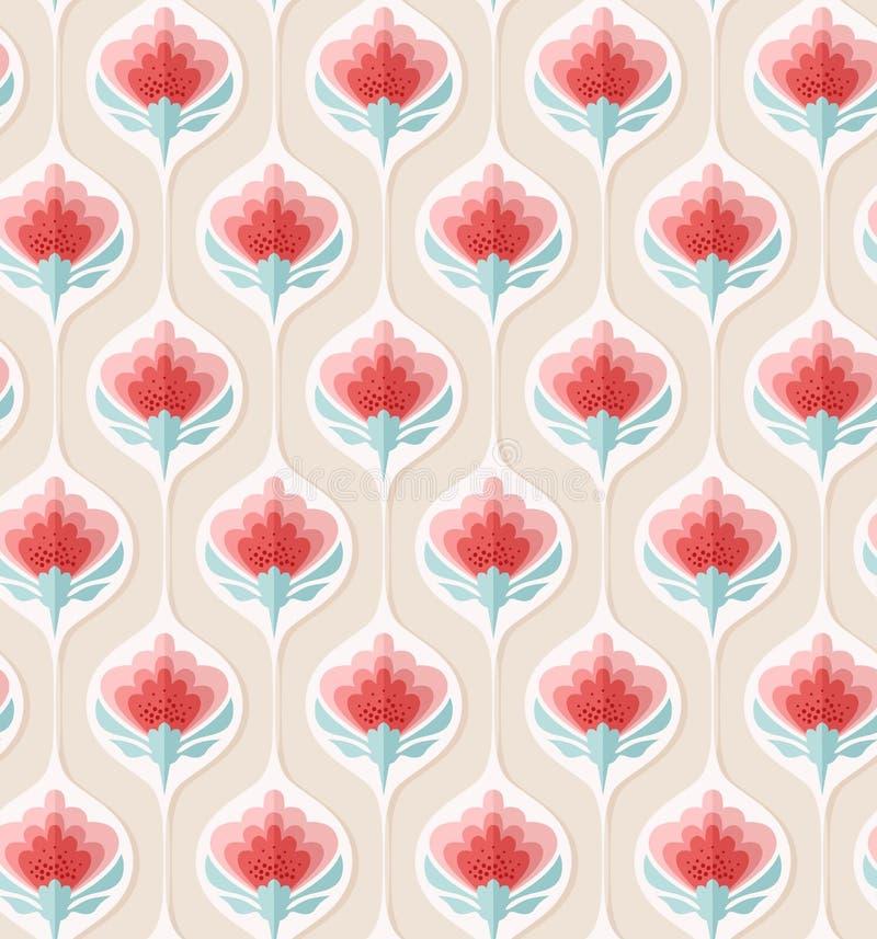 Configuration florale sans joint de cru illustration de vecteur