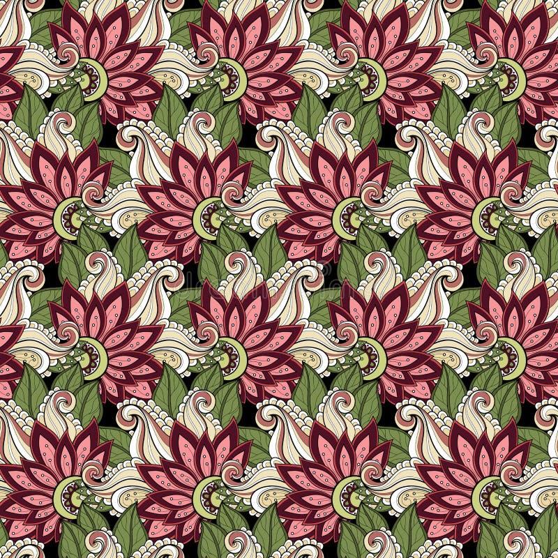 Download Configuration Florale Sans Joint De Vecteur Illustration de Vecteur - Illustration du griffonnage, tissu: 56480862
